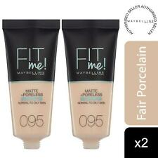 2pk Maybelline Fit Me Matte & Poreless Liquid Foundation, 095 FairPorcelain 30ml