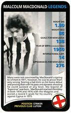 Malcom Macdonald-Newcastle United-Top Trumps Tarjeta (C126)