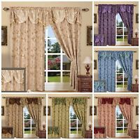"Window Curtain Drape Set Blackout Floral Walleye 55""x84"" Panel With 18"" Valance"