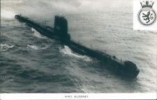 Postcard Sized Photo Royal Navy Submarine HMS Alderney