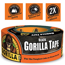 """New listing Black Gorilla Duct Tape Roll 1.88"""" x 12 yd Tough Wide Waterproof Adhesive Cloth"""
