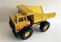 1980s TONKA Dump Truck Diecast Turbo Diesel Yellow Pressed Steel XMB-975 Tires