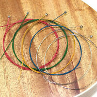 Perfect 1 Set 6pcs Rainbow Colorful Color Steel Strings for Acoustic Guitar F Hc