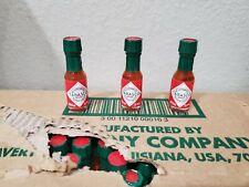 144 Mini Tabasco Original Pepper Sauce Bottles 1/8 Oz. in case - New!!