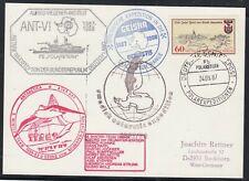"""Antarctic,""""Expe. GEISHA"""",1987, 5 Cachets,swedap+Overwintering,look Scan !!8.7-21"""