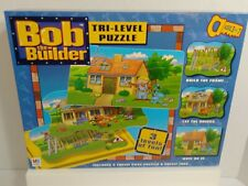 Bob The Builder Tri-Level Jigsaw Puzzle 2001 New Factory Sealed 3 Puzzles 2001