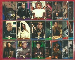 BABYLON 5 - SKYBOX - 60 CARDS - 1996 TRADING CARD SET in Plastic Sleeves (QS08)