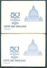 VATICANO - Cart. Post. - 1979 - 50° DELLO STATO - Serie 6 val. in contenitore