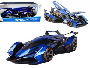 MAISTO 1:18  BLUE LAMBORGHINI V12 VISION GRAN TURISMO DIECAST CAR MODEL 31454B