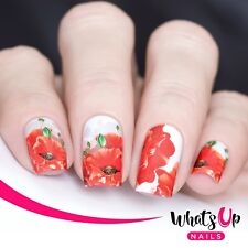 P078 Sweet Poppy Water Decals Sliders for Nail Art Design