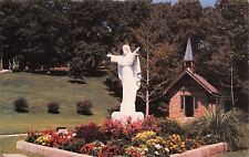 Oklahoma~Har-Ber Village Church And Statue Of Christ~1960 Postcard