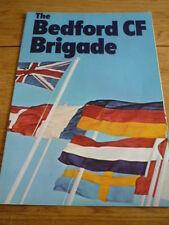 BEDFORD CF BROCHURE 1970/71 jm