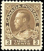 Mint NH 1918 Canada F+ Scott #108b King George V Admiral Stamp