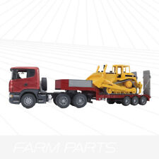Bruder Scania R series Lorry with low loader and Caterpillar bulldozer 03555