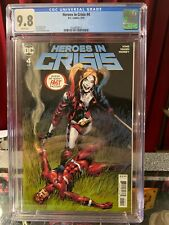 HEROES IN CRISIS #4 CGC 9.8, DC COMICS (2019) Harley QUINN COVER!