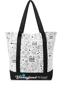 NWT Disneyland Disney Dogs Tote Bag I'm A Dog Person New 2020 Reigning
