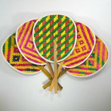 Thai Bamboo Handmade Craft Weave Interlace Gift Woven Folk Art Style Hand Fan Other Home Arts & Crafts Crafts