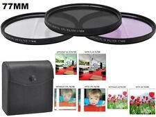 77mm Filter Set (UV CPL FLD) for Nikon 70-200mm f/2.8G Lens, Canon EF 24-105mm