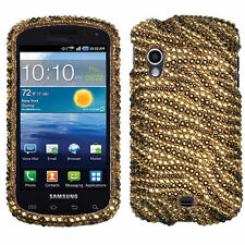 Samsung Stratosphere i405 - CRYSTAL DIAMOND BLING CASE COVER GOLD TIGER ZEBRA