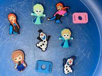 Disney Frozen Lot Of 7 Shoe & Bracelet Charms + 2 Lace Adapters