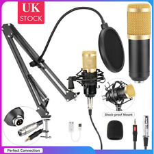 More details for pc usb podcast studio condenser recording microphone vocal singing mic w/stand
