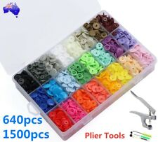 640/1500PCS Plastic KAM Snaps Kit T5 Fastener Button Press Stud Plier Tool Set