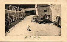 THE DOG WATCH c1905 COMIC POSTCARD