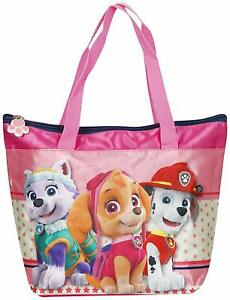 PAW PATROL Tote Bag Pink Skye Everest Marshall Girls Beach Shoulder Handbag