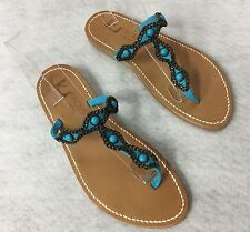 K Jacques St. Tropez Ismelda Blue Turquoise Stone Sandals Brand NEW sz 39