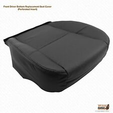 2007 2008 2009 Cadillac Escalade Driver Side Bottom Leather Seat Cover Black