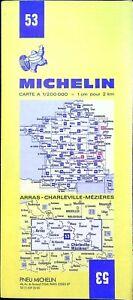 Ancienne carte Routière Michelin collector-200 000é - Arras,Charleville Mézières