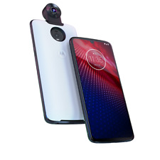 Motorola - moto z 4 with 128GB Memory Cell Phone (Unlocked) white - Flash Gray
