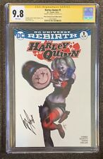 Harley Quinn #1 CGC Signature Series 9.8 White Pages Signed By Warren Louw 2016