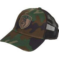 BROWNING STEALTH GREEN CAMO MESH BACK Trucker Hat Baseball Cap New