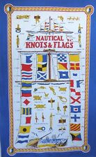 Nautical Knots and Flags Galley Cloth / Fabric Poster / Tea Towel