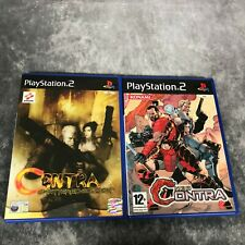 Contra Shattered Soldier & Neo Contra PS2 PlayStation 2 Game Bundle Rare Konami