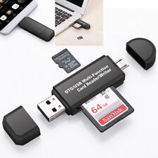 Micro USB OTG to USB 2.0 Adapter Micro SD/SDXC TF Memory Card Reader Adapter
