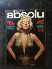 LE NOUVEL ABSOLU N°10/EROTISME/MARILYN MONROE 1976 EO