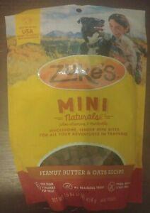 Zukes Mini Naturals Peanut Butter & Oats Recipe Dog Treats 16oz