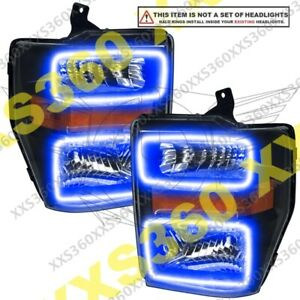 ORACLE Headlight HALO RING KIT for Ford F250/F350 SD 08-10 BLUE LED Angel Eyes