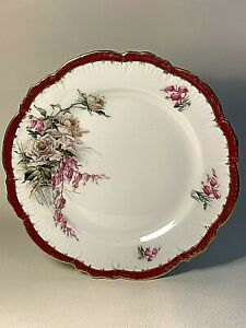 Plate Kuznetsov. Museum preservation. Porcelain. Tsarist Russia. Before 1917.
