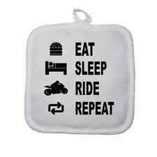 Manique gant de cuisine eat sleep moto