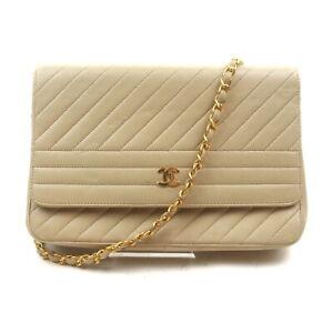 Chanel Shoulder Bag  Beiges Leather 2004322