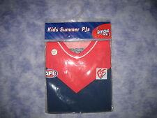 AFL MELBOUNE DEMONS Kids Summer PJs (size 4-6) - NEW!