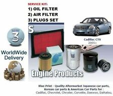 CADILLAC CTS 2.8i V6 2005-> SERVICE KIT OIL AIR  ( 2 ) FILTER & SPARK PLUGS SET