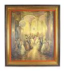 Richard Schlomer 1950's Impressionist Painting High Society Ballroom Party