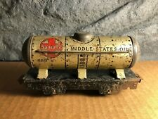 Vintage Marx | 553 | Middle States Oil Tanker Car | Play Worn Condition
