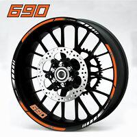 690 Duke motorcycle wheel decals 12 rim stickers laminated set enduro smc