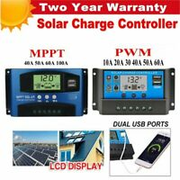 10-100A LCD MPPT/PWM Solar Panel Battery Regulator Charge Controller 12V/24V