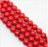 """15"""" 4mm 6mm 8mm 10mm 12mm Natural Red Turquoise Gemstone Stone Spacer Beads"""